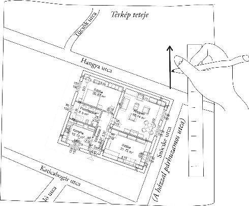 Tájolás térképpel