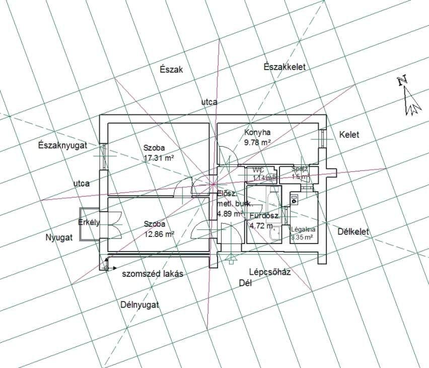 A lakásunk eredeti alaprajza