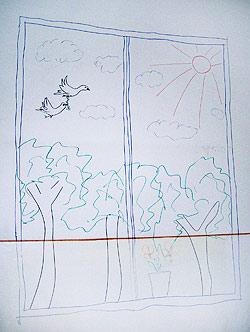 E rajz helyére került az északkeleti ablak