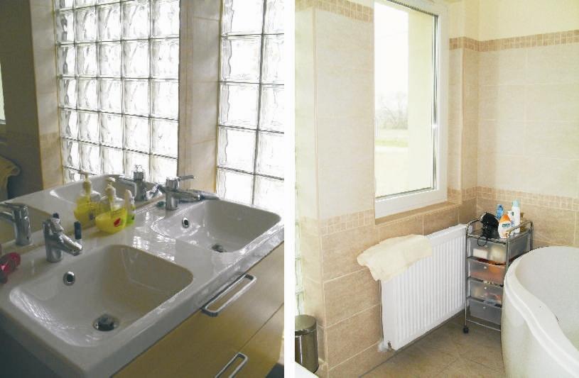 Így néz ki egy északi fürdőszoba akkor, ha a Vaszati elvei szerint készül. Ha ilyen világos borús időben, akkor milyen, ha odakint süt a Nap?