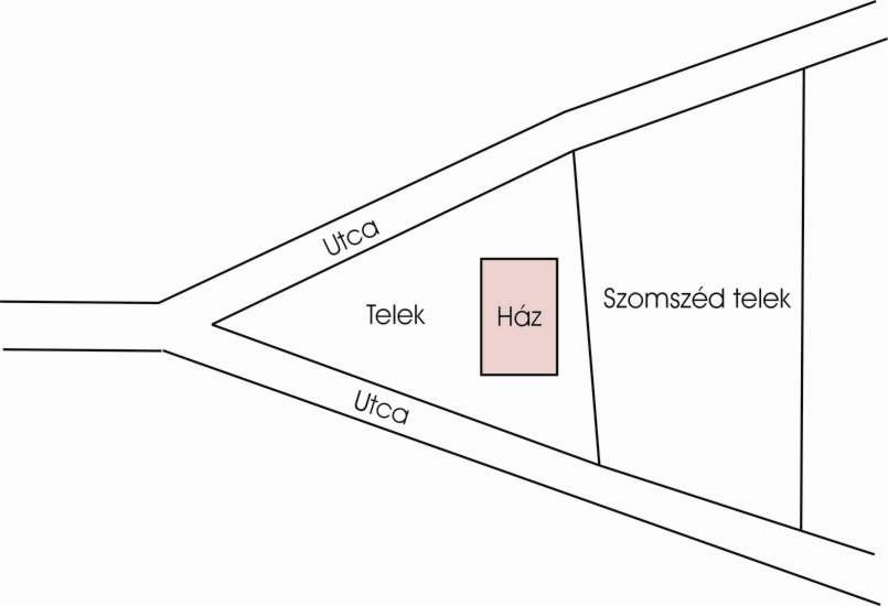 """Két utca """"Y"""" alakú elágazásánál jöhet létre háromszög alakú telek"""