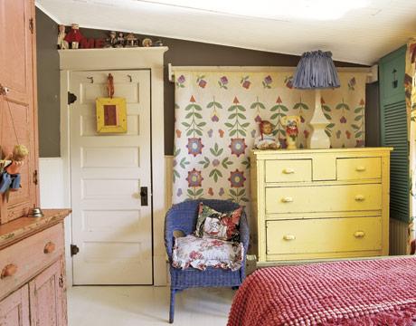 Egy igazán vidám és színes gyerekszoba. Forrás: countryliving.com