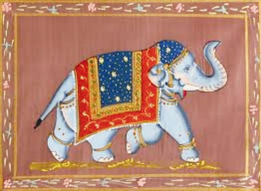Tipikus indiai elefántos festmény. Szerintem nagyon szép.