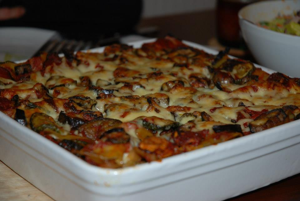 Vegetáriánus lasagne - nagyon finom volt!