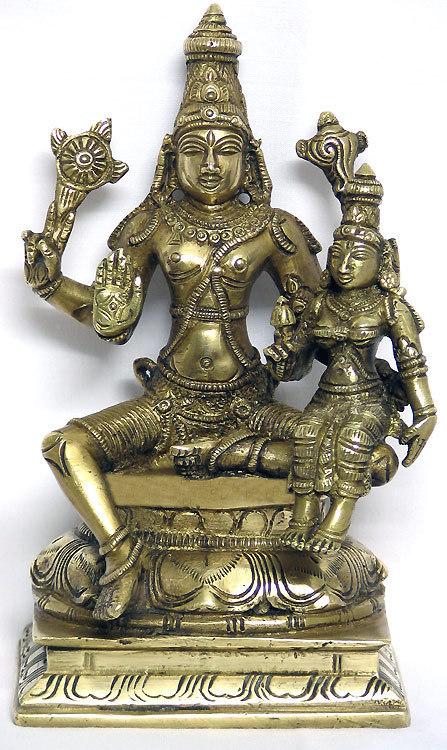 Vinsu - ölében a Szerencse Istennőjével, Laksmi-devivel