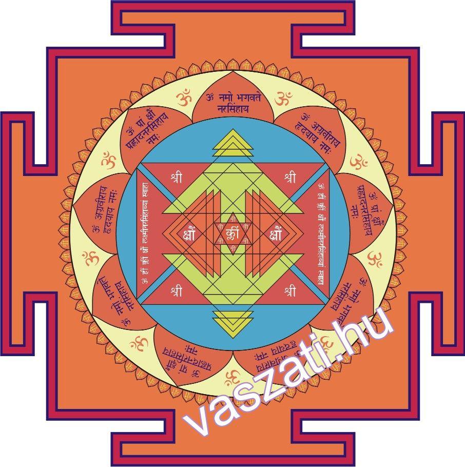 Narasimha védelmező yantra - speciális védelemért.