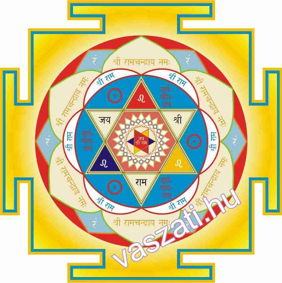 A Rāmacandra yantra is sokat segít, ha zárt a kelet, de azért önmagában nem elegendő!