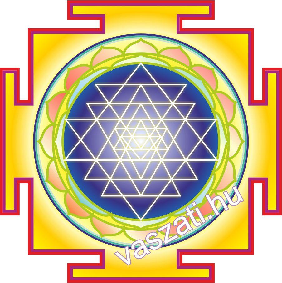 A jól ismert Sri yantra, mely nem hiányozhat egyetlen otthonból sem
