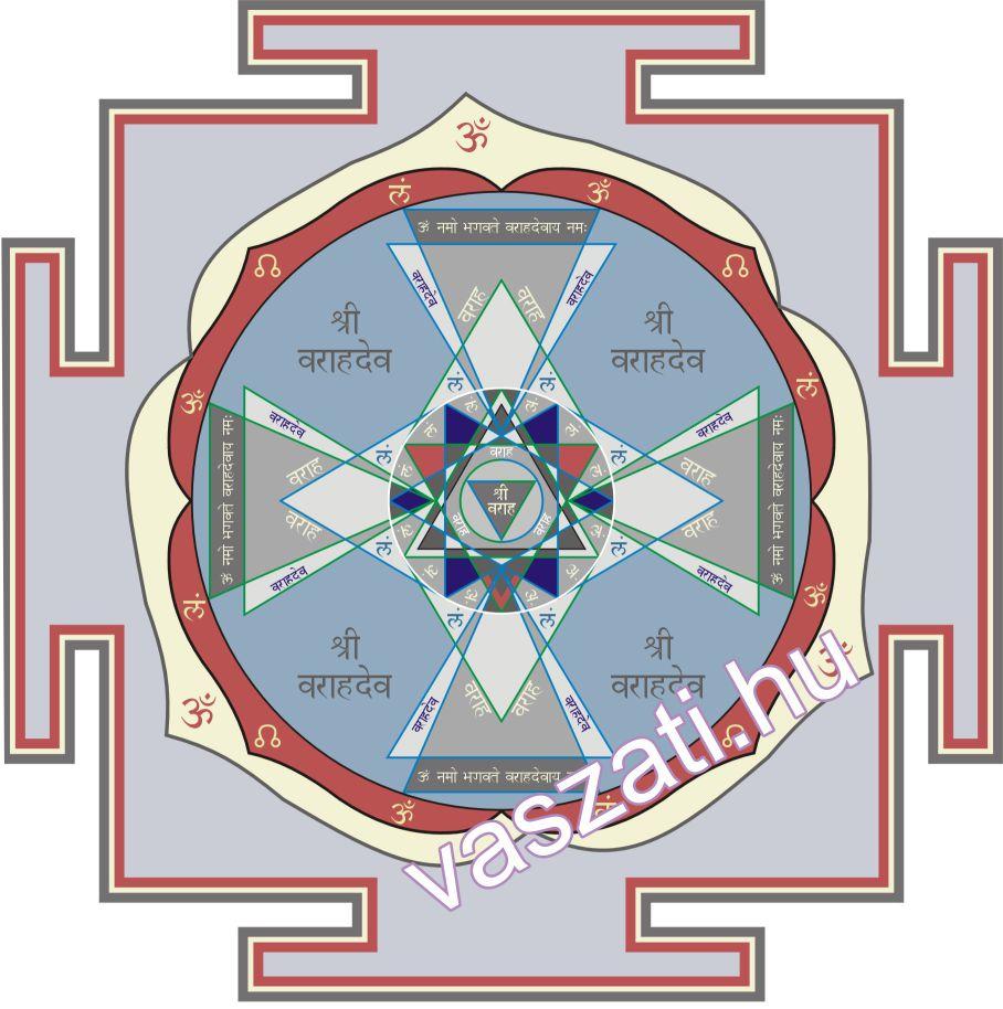 A Varaha yantra képes Rahu negatív hatását enyhíteni.