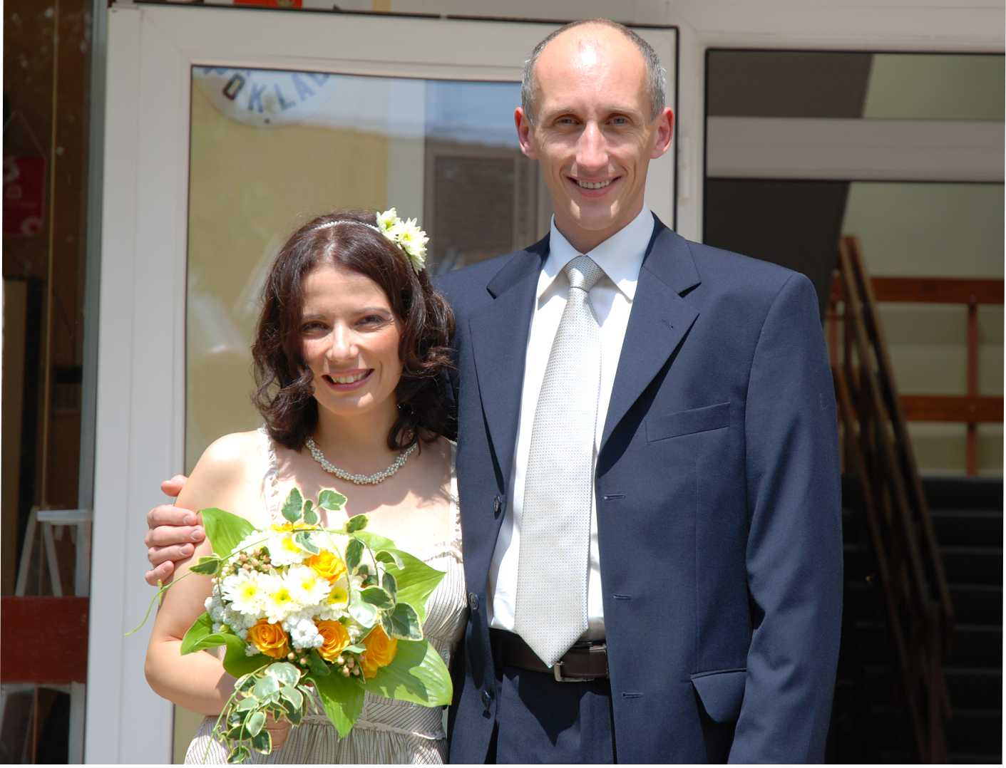 Az esküvőnk napján...
