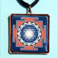Sri yantra talizmán kék