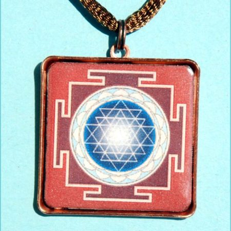 Sri yantra talizmán piros