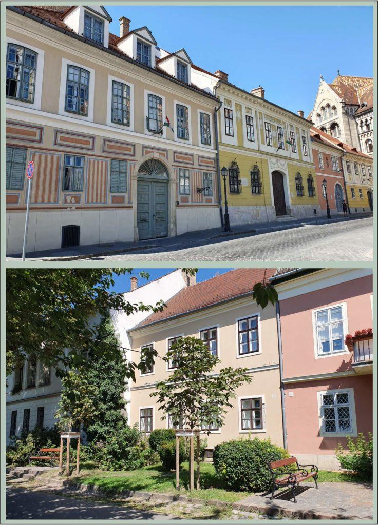 Mind a két utcarészletet a budai várban fotóztam. Nagyon szépek az épületek, de van egy feltűnő különbség: Az egyik utcában vannak fák, a másikban egyáltalán nincsenek!